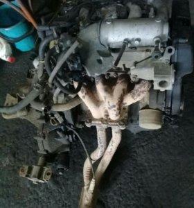 Двигатель от двенашки в сборе коробка статер Всё