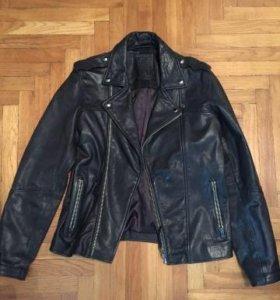 Кожаная куртка косуха Mango (новая)