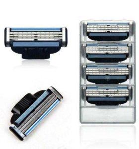 Gillette сменные лезвия кассеты бритва
