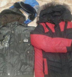 куртки и шапка в подарок