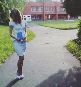 Белое платье Boohoo