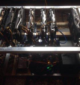 Майнинг ферма на 7 GPU 12000₽/мес.