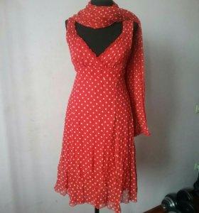 Платье Sinequanone с палантином 44р.