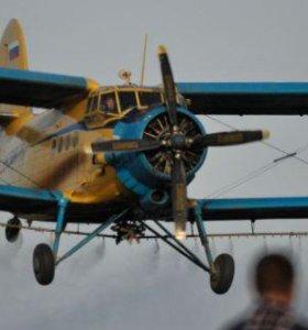 Внесение минеральных удобрений самолетом Ан-2