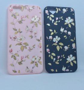 Чехол на iPhone 6, 6s, 7, 8 с цветочками 🌸