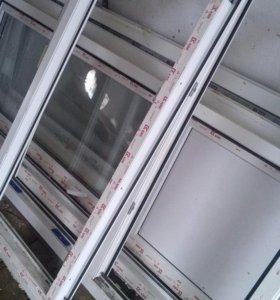Балконые пластиковые двери.