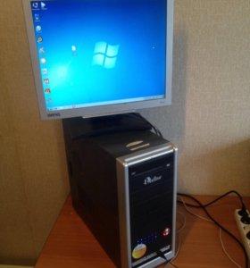 """2 ядра домашний компьютер с монитором BenQ 19"""""""