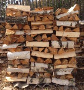дрова колотые, береза