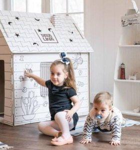 Картонный домик-отличный подарок вашему ребенку