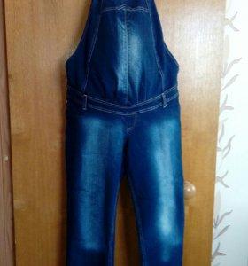 Комбинезон джинсовый для будующих мамочек