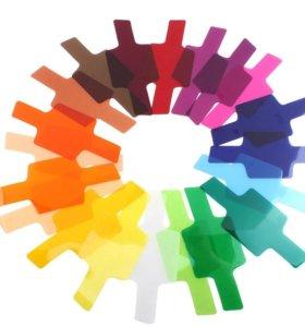 Цветные гелевые фильтры для фотовспышки