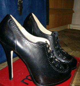 Новые Туфли, полуботинки кожаные