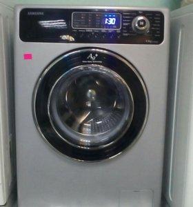 Серая стиральная машина Самсунг