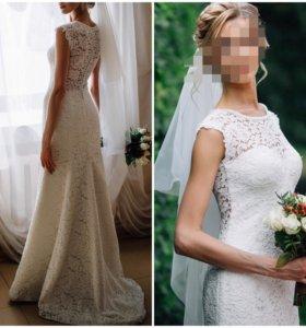 Свадебное платье + чулки и кофр👰🏼