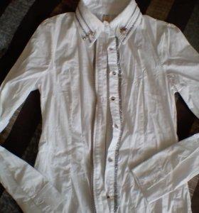 Стильная рубашка (замки, стразы)
