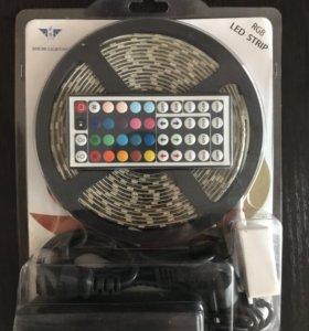 Светодиодные ленты RGB готовые комплекты разные