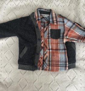 Рубашка и кофта для мальчика 6-12 мес GeeJay