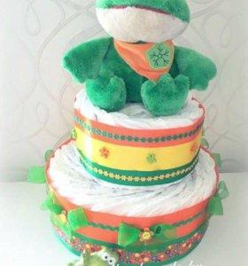 Торт из подгузников (мальчик/ девочка)