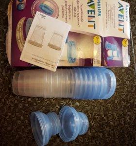 Контейнеры AVENT для грудного молока