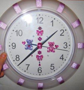 Часы настенные подарочные бесшумные для детской