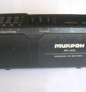 Радиоприемник УКВ Микрон РП-201 (рабочий)