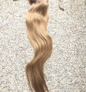 Хвост из натуральных волос . 69 см