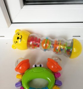Игрушки Крабик и Мишка сыпучка