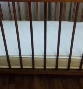 Детская кроватка и новый матрас в подарок!!!