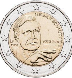 Германия 2 евро 2018 G
