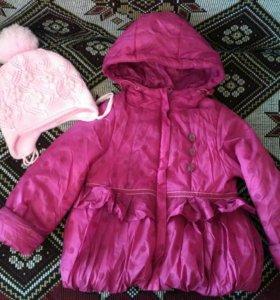 Куртка+шапка для девочки