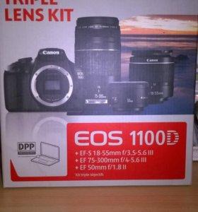 Canon EOS 1100D + 3 обьектива