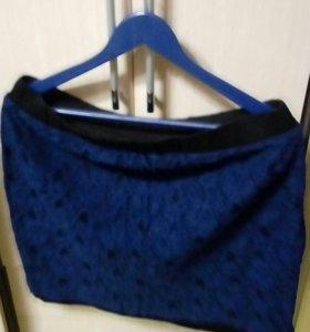 Юбка Etam,тёмно синяя