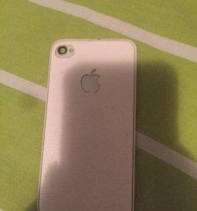 Задняя крышка на айфон 4 белая