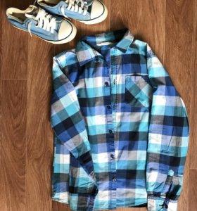 Рубашка HM и кеды р.37
