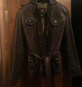 куртка кожаная на утепленной подкладке