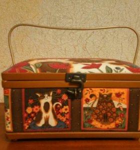 Шкатулка/коробка/сундук для рукоделия