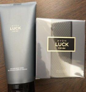 Мужской парфюмерный набор Avon Luck