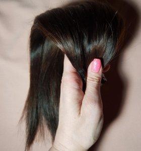Волосы натуральные.