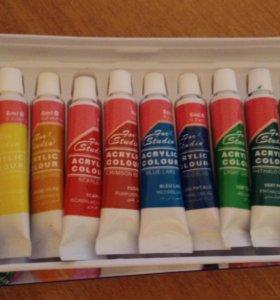Акриловые краски, краски для стемпинга, гель лаки