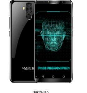 Новый безрамочный Oukitel K6 Face Id 2018г