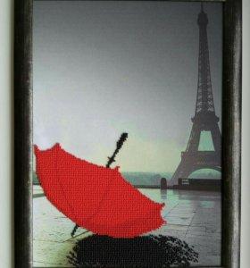 """Картина """"Опять хочу в Париж"""""""