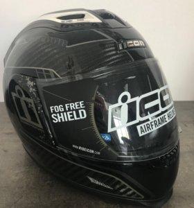 Новый шлем Айкон, размер s, цвет карбон