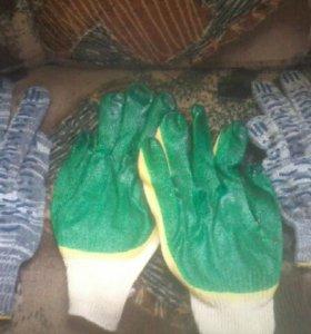 Перчатки робочии две пары100р