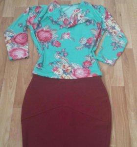 Стильная юбочка и блузка к ней