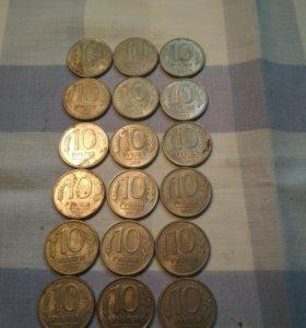 Продам монеты 10 руб.