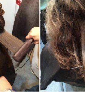 Нанопластика волос ( Био протеиновое выпрямление)