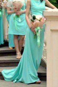 Платье для подружки невесты цвета мяты. Без обмена
