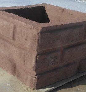 Блоки забора бетонные
