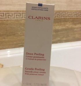 Маска увлажняющая и пилинг clarins