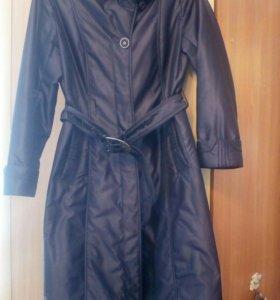Пальто, цвет баклажан